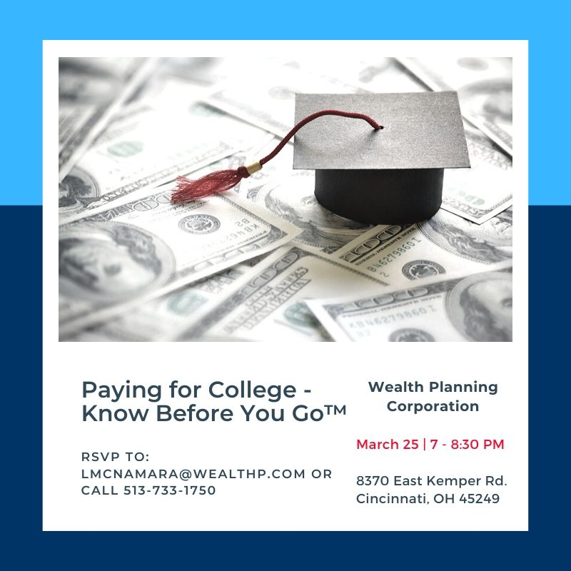 EVENT: March 25 | Paying for College – Know Before You Go™!